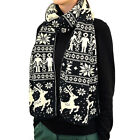 "76"" Long Reindeer Snowflake Premium Quality Woven Scarf Chritsmas Winter Warm"