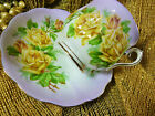 ROYAL ALBERT TEA CUP AND SAUCER HAMPTON SHAPE MAUVE FADE YELLOW TEA ROSES GOLD