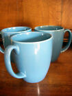 Set of 3 Corning Ware Corelle Classic Cafe Stoneware Mugs Blue