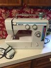 VINTAGE NECCHI 537L METAL HEAVY DUTY SEWING MACHINE POWER CORD FOOT PEDAL WHITE