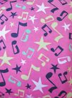 Snuggle Flannel Scattered Music Notes Crafts Apparel QuiltingGen BTY New