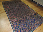 3x5 small Baluch Persian Oriental Area Rug Carpet Orange Navy Lovely!