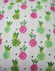Snuggle Flannel Pink  Green Pineapples Crafts Apparel Gen BTY New