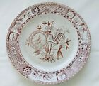 Sitka T. Hughes Burslem Salad Plate 1800's Antique