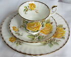 GOLDEN CROWN E R BONE CHINA TRIO LUNCH SET CUP, SAUCER, PLATE IN PEACE PATTERN E
