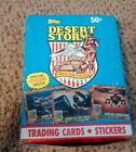 1991 topps desert storm box 40 pack collection