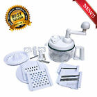 Manual Food Processor multi purpose Chops Blends Grates Beats Juices  Eco Chef