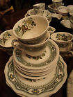Mason's Ironstone Green Manchu tea set for 8 Of England