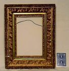 Ornate 19th Century Gilt Gesso Tiered Cavetto Frame 14 x 11~ 8 3/4 x 5 3/4 sight