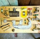 Vintage steampunk industrial parts tools altered art parts valves fuses and more