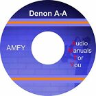 DENON service manuals, owners manuals and schematics on 3 dvd, all in pdf format