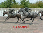 KENTUCKY THOROUGHBRED PARK BRONZE HORSE RACING JOCKEY SILK SADDLE CLOTH PHOTO 5