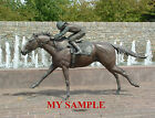 KENTUCKY THOROUGHBRED PARK BRONZE HORSE RACING JOCKEY SILK SADDLE CLOTH PHOTO 7