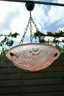 French Art Deco Chandelier DEGUE signed frosted glass 1930