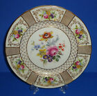 ROYAL DOULTON PLATE ENGLISH PORCELAIN HAND PAINTED GOLD ROSE ENGLAND c 1925 #1