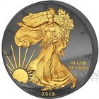 USA Enigma 2015 Silver American Eagle Walking Liberty 1Oz Coin Ruthenium Gold Pl