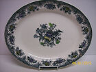 Royal Fayance Egersund Black and White Floral Birds Platter-  Norway