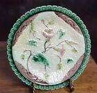 Antique German Majolica Napkin & Morning Glory Plate C.1800S #1