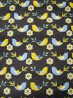 Snuggle Flannel Gold  Blue Chicks on Brown Apparel Quilting Gen BTY New