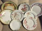 Variety of Floral Golden Crown China Plates Bundle (8)
