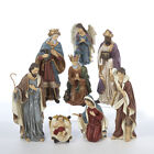 KURT S ADLER HAND PAINTED 9 RESIN 8 PIECE NATIVITY SET CHRISTMAS DECORATION