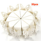 50Pcs Butterfly Favor Gift Candy Boxes Cake Style for Wedding Shower Ivory