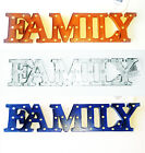 Metal FAMILY word Sign 17 x 4