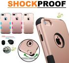 Rose Gold Hybrid Rubber Hard Protective Case Cover for Apple iPhone 8 7 6 S PLUS