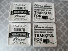 Ciroa Thankful+Grateful+Blessed 4 PC. Mini Thanksgiving Appetizer/Dessert Plates