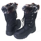 Womens Winter Snow Boots Black Fur Zipper Water Repellent Insulated Shoes Sizes
