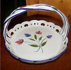 Hand painted, Creamy White, Portugal RCCL pottery ceramic Basket