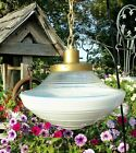 Vintage Schoolhouse Ceiling Light UFO Fixture Globe Opalescent Atomic Lamp Shade
