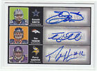 2010 Topps Magic EMMITT SMITH TIM TEBOW PERCY HARVIN TRIPLE AUTO 25 AUTOGRAPH