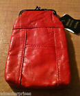 Eclipse Red Leather Lamb Skin Snap 120s Cigarette Case