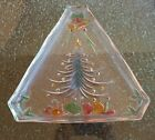 Mikasa Multi Colored - Holiday Gifts Tree Triangle Shaped Platter - discontinued