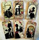 Vintage Silhouette 6 Large Hang Tags Scrapbooking Cards 37 judysjemscrafts