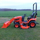 2014 Kubota BX2370 Tractor 4WD w Front Loader and 60 Mid mower 52 Hrs Bar Tires