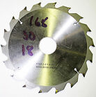 165mm Dia x 30mm Bore x 18Teeth ATKINSON WALKER INDUSTRIAL CIRCULAR SAW BLADE.