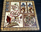 Antique Aesthetic Movement England Decorated Tile