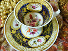 ANTIQUE RARE CHARLES BOURNE? B TEA CUP AND SAUCER LONDON SHAPE  LUSH  GILT c1825