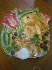 Fitz & Floyd Blackberry Rabbit Canape Plate   In original box
