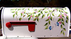 Hand Painted Mailbox FREE SHIPPING Decorative Post Mount Butterflies Bees Blooms