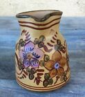VINTAGE ALGARVE SIGNED HAND PAINTED TERRA COTTA CLAY POTTERY CREAMER, PORTUGAL