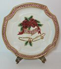 Fitz and Floyd Essentials Holiday Bells Christmas Cookie Plate