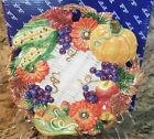 Fitz and Floyd AUTUMN BOUNTY Canape Plate Fall Thanksgiving Harvest NEW IN BOX