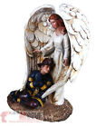 Fireman Winged Guardian Angel Statue Firefighter Religious Decor Praying Hands