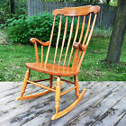 BROTHERS VTG COLONIAL Wood ROCKING CHAIR 1970'S Baby Nursery Rocker