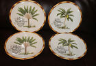 Fitz and Floyd Cape Town Set of 4 Salad / Dessert Plates New in Box **