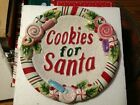 Fitz and Floyd Cookies For Santa Candy Christmas Collector Plate Dish