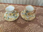 Saucer Yellow Roses Floral Gold Gilt